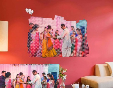 Panel Out Photo 3D Wall Sticker