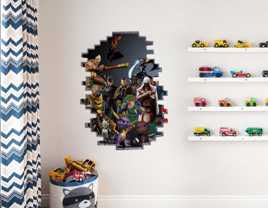 Look through my Home Illusion Wall Sticker