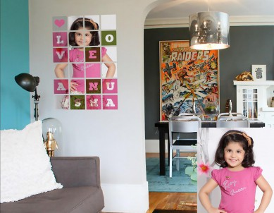 Personality Photo Squares Wall Sticker