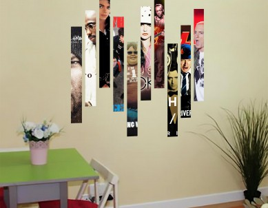 Timeline Collage Wall Stickers