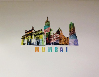 Mumbai Graffiti Treat Wall Sticker