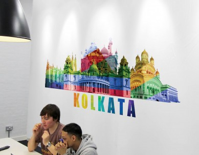 Kolkata Gaze Wall Sticker