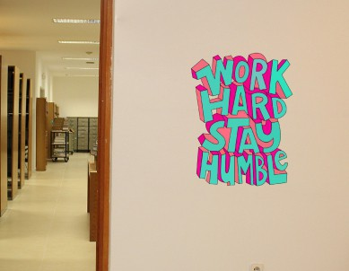 Work Hard Stay Humble Wall Quote