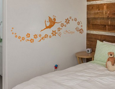Fairy Floral Flow Wall Sticker