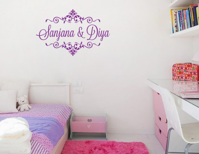 Name In A Caravan Wall Sticker
