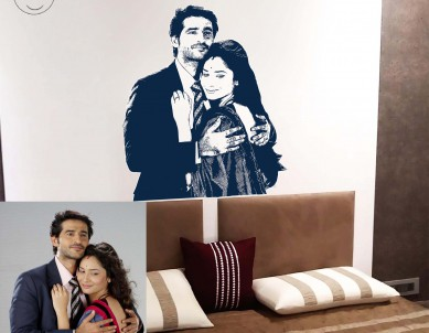 Photo Silhouette Sketch Wall Sticker
