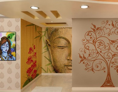 Doors that lead to transformation – An eclectic selection of designs for the Puja room door