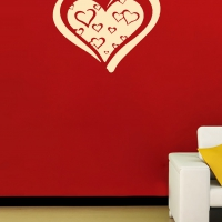 Boom Boom Heart room decal