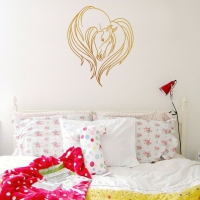Horse Love Bedroom Wall Sticker