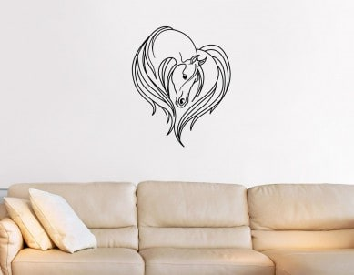 Horse Love Wall Sticker