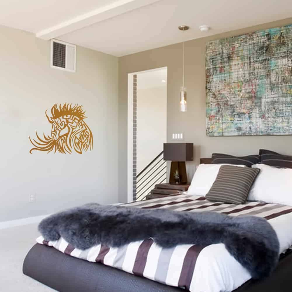 Horse Tattoo Bedroom Wall Sticker