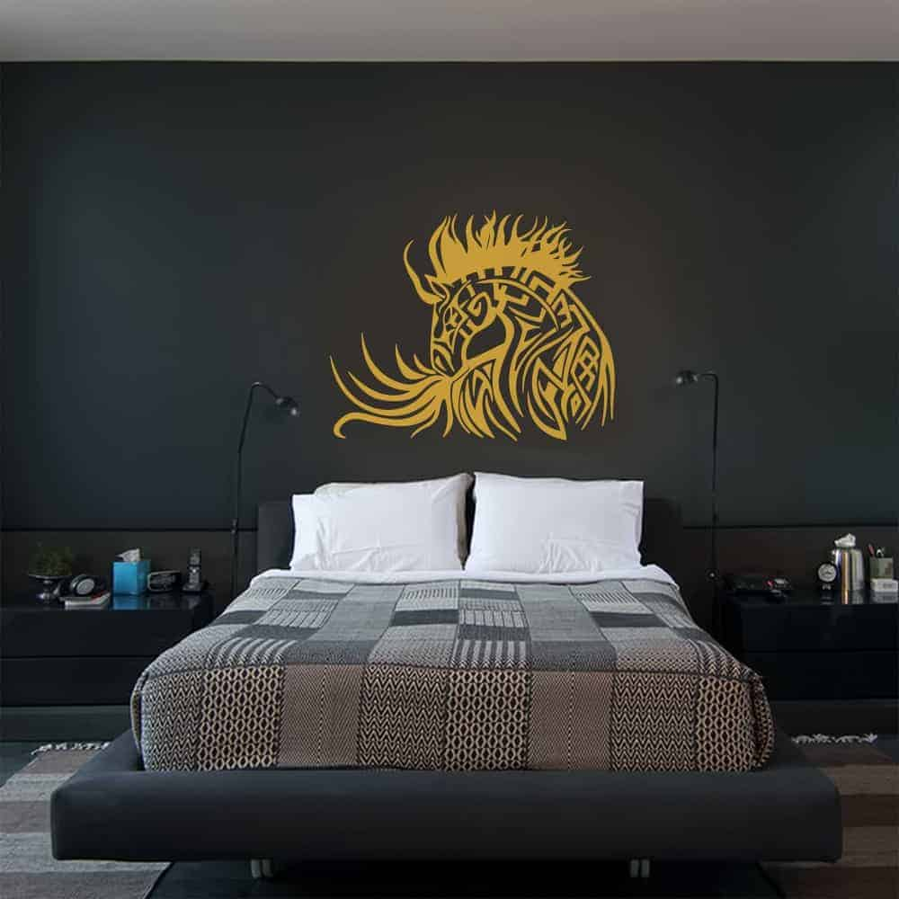Horse Tattoo Bedroom2 Wall Sticker