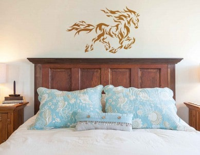 Fiery Stallion Wall Sticker