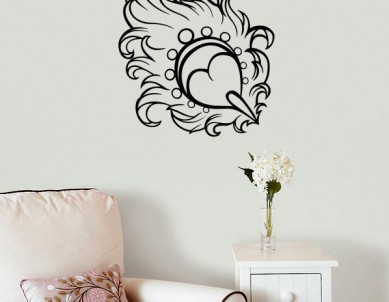 Smooth as a Feather Wall Sticker