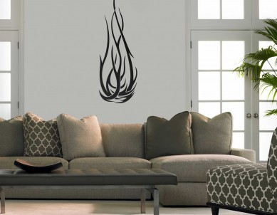 Flame tattoo Wall Sticker
