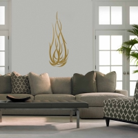 Flame tattoo Living2 Wall Sticker