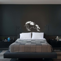 Raging Unicorn Bedroom3 Wall Sticker