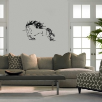 Raging Unicorn Living Wall Sticker