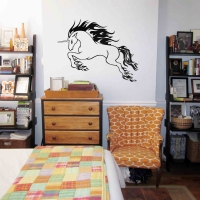 Raging Unicorn Teen Wall Sticker
