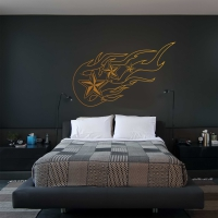 Nautical Flames Bedroom Wall Sticker