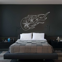 Nautical Flames Bedroom3 Wall Sticker