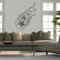 Nautical Flames Living Wall Sticker