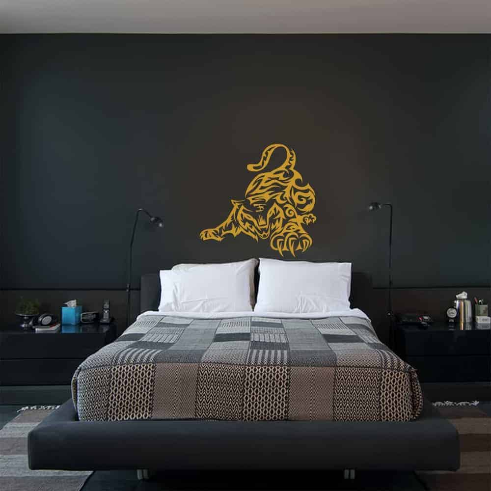 Playful Tiger Bedroom Wall Sticker