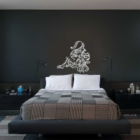 Playful Tiger Bedroom3 Wall Sticker