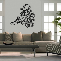Playful Tiger Living Wall Sticker