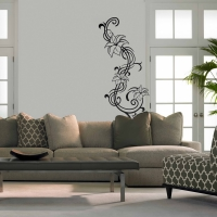Flower Twist Living Wall Sticker