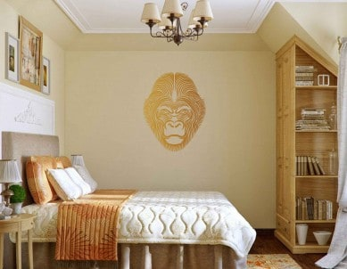 Gorilla Warrior Wall Sticker