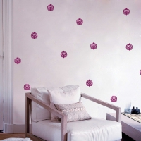 Peacock Feather Wall Pattern Bedroom