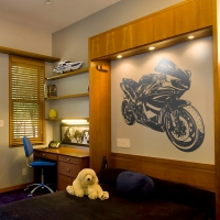 WDPCAMCB0001 Print your favourite motorbike wall sticker