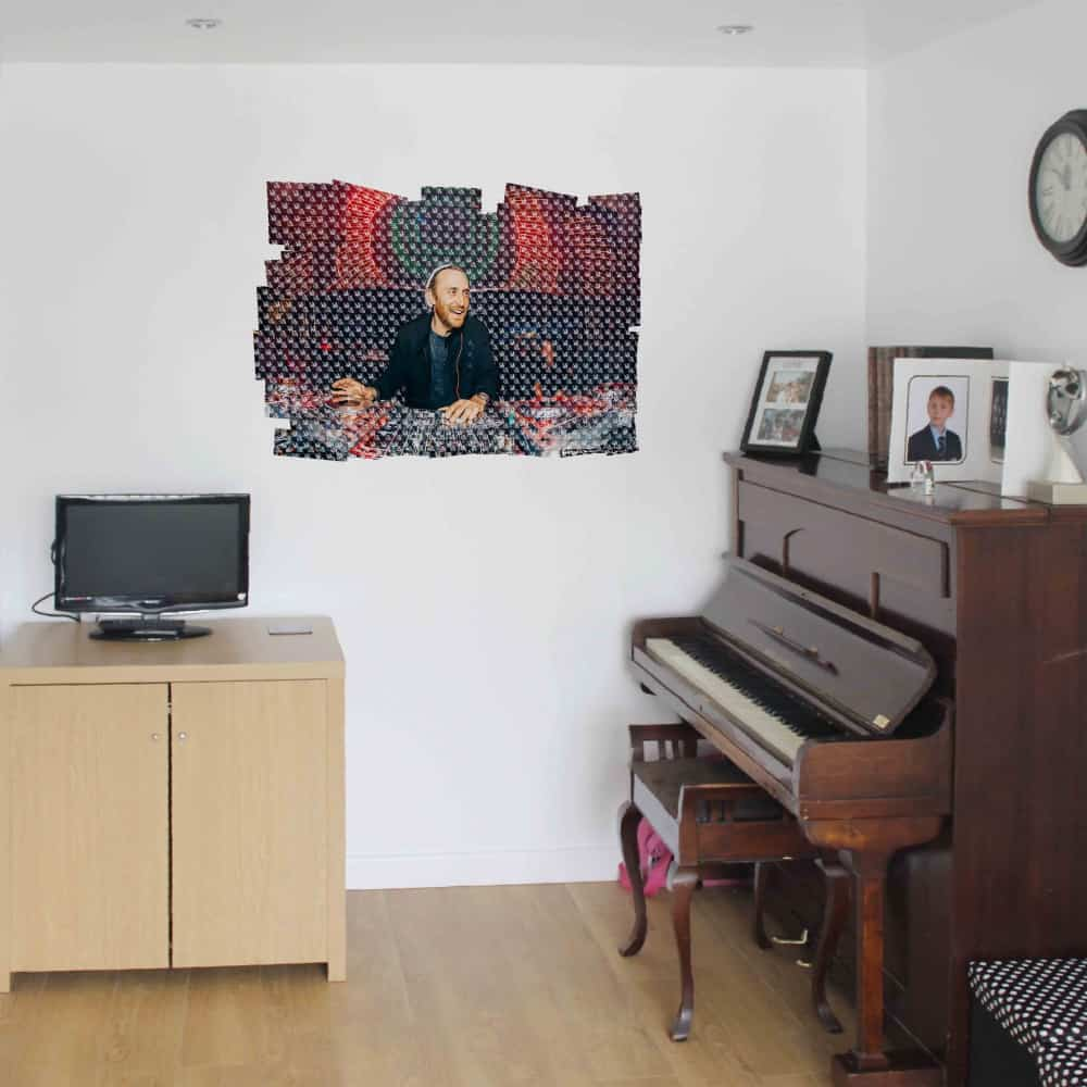 WDPCAMMM0002 Print your own music band 3d wall sticker