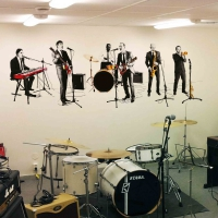 WDPCAMMM0002 Print your own music band wall sticker