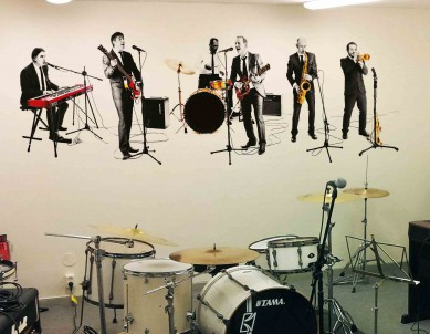 Print your own music band wall sticker