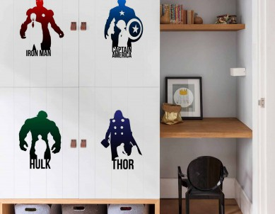 Print your own superhero wall sticker