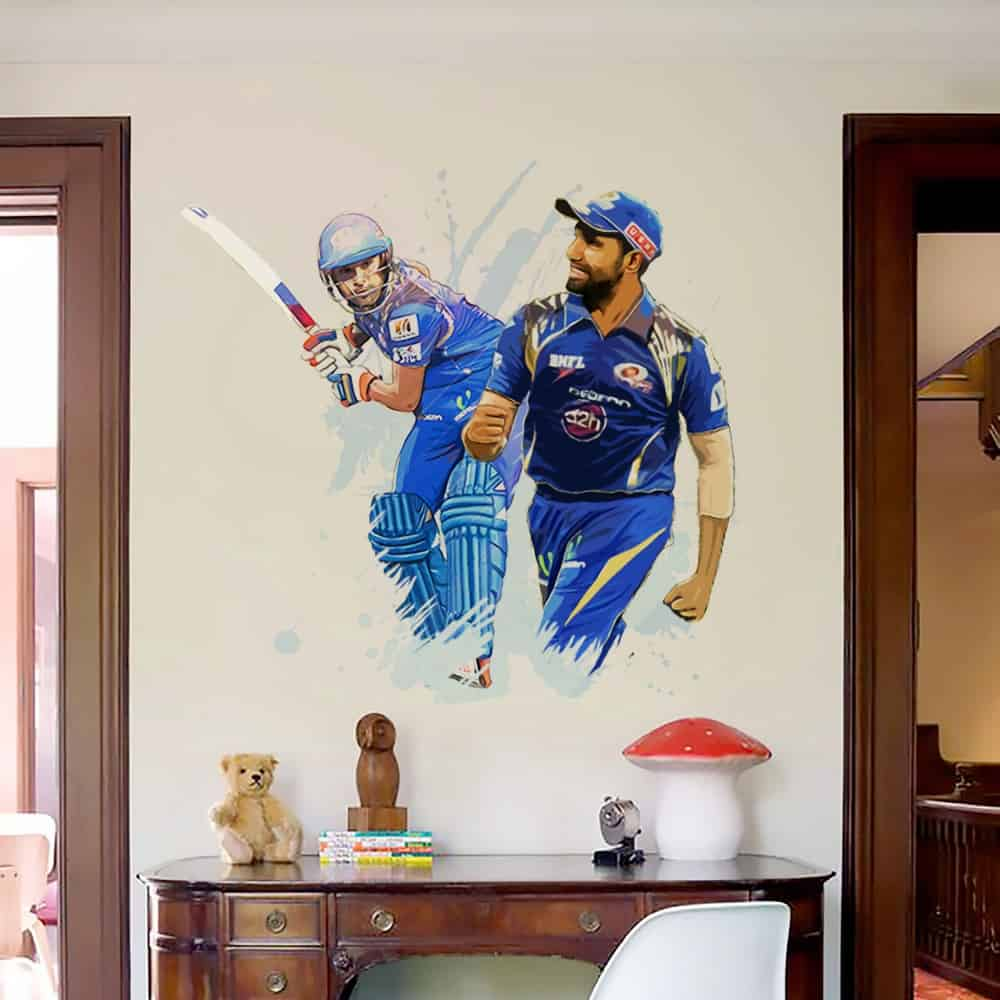 WDPCAMSP0001 Print your own cricketer wall sticker