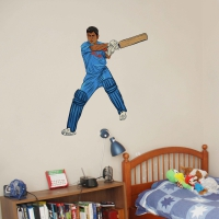 WDPCAMSP0001 Print your own cricketer wall sticker kids