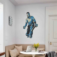 WDPCAMSP0001 Print your own cricketer wall sticker living