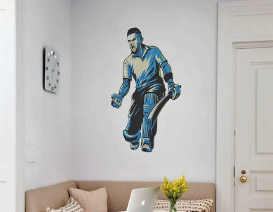 Print your own cricketer wall sticker