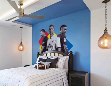 Print your own footballer wall sticker