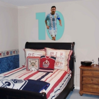 WDPCAMSP0002 Print your own footballer wall sticker teen