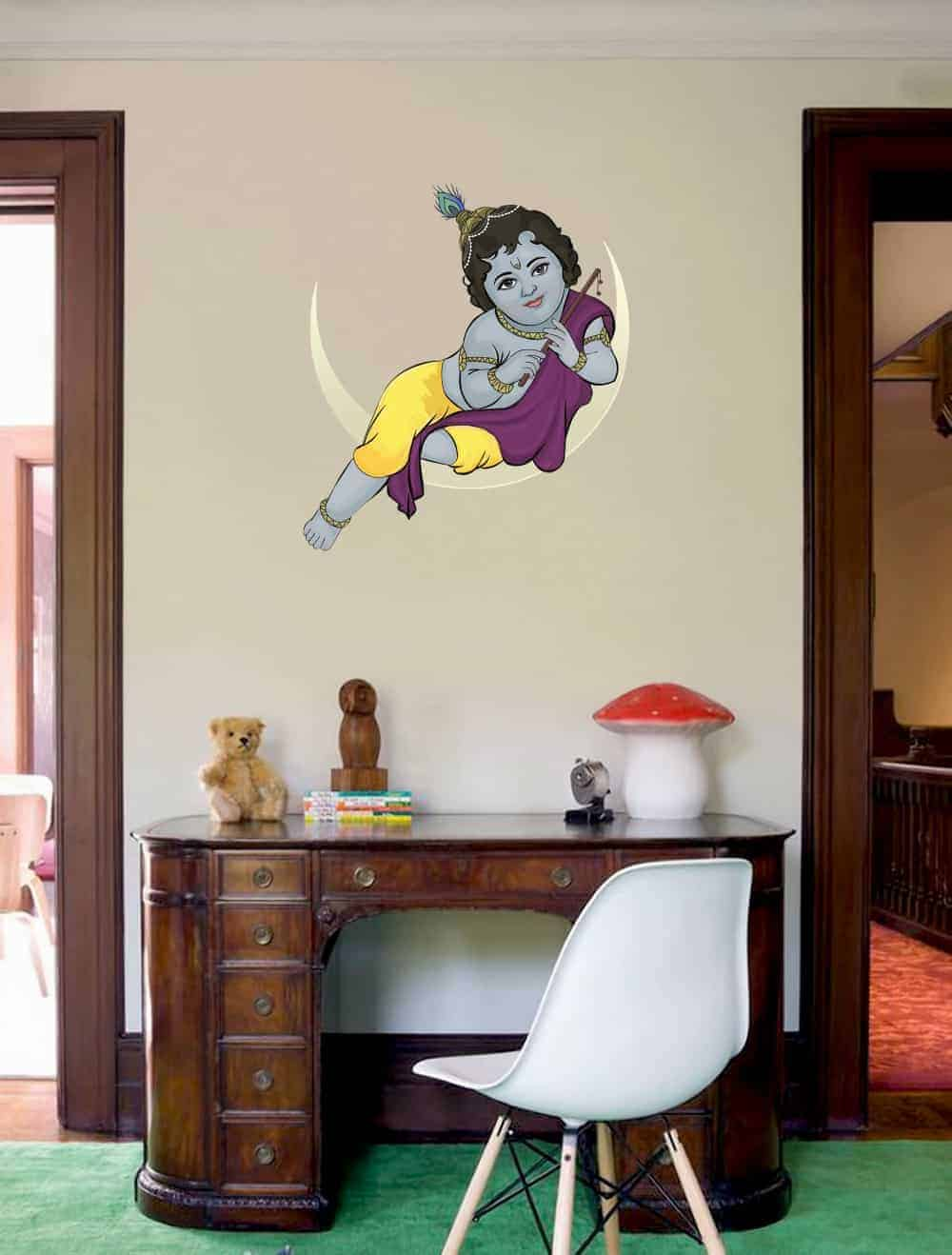 Baby Krishna Painted wall sticker room