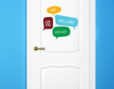 Hi Hello Welcome Wall Stickers