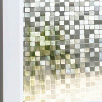Square Glass Mosaic Glass Door room sticker