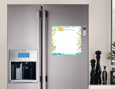 I Luv Possibilities Writing Film Flexible Fridge Magnet (1ft x 1ft, White)