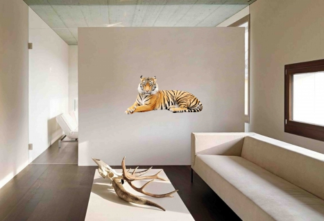 25 Modern Design Ideas To Bring A Feel Of Jungle Into Your Living Room – Using Wall Stickers