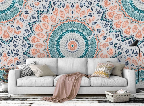 55 Mandala Wall Murals For Your Home – A Shift from Stress To Inner Peace!
