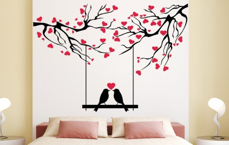 Weave A Fairytale Romance In Your Bedroom With WallDesign Love Decals!